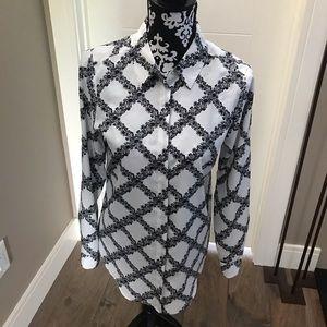 Karl Lagerfeld b&w blouse